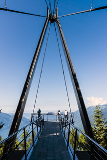 Switzerland, Ticino, Locarno, Cardada, Viewing platform Passerelle - WE000194