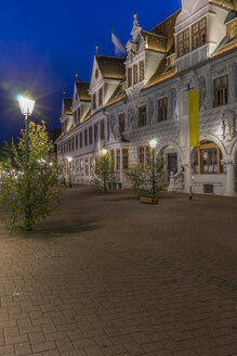 Germany, Lower Saxony, Celle, Old townhall, Blue hour - PVC000069