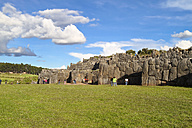 South Amercia, View of the ruins of Saksaywaman in Cusco - KRP000697