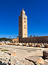 Africa, Morocco, Marrakesh-Tensift-El Haouz, Marrakesh, Koutoubia Mosque, Minaret from Almohad dynasty - AMF002622
