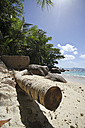 Seychelles, Praslin Island, View of the beach at Anse Lazio - KRPF000712