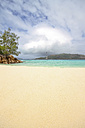 Seychelles, View of the beach at Curieuse Island - KRPF000723