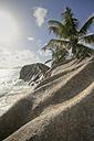Seychelles, La Digue Island, Anse Source D'Argent, Rocks at beach - KRPF000731
