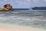 Seychelles, View of the Anse Severe Beach at La Digue Island - KRP000737