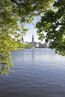 Germany, Hamburg, View of the Alster Lake - KRPF000929