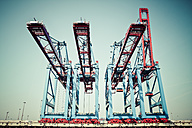 Germany, Hamburg, Port of Hamburg, Container cranes - KRP000956