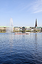Germany, Hamburg, Inner Alster and Alster fountain, Excursion boat - KRPF000989