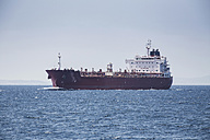 Spain, Andalusia, Tarifa, Strait of Gibraltar, Cargo ship - KB000096