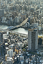 Japan, Tokyo, Cityscape, Bridge and Sumida river - HLF000686