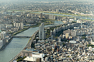 Japan, Tokyo, Cityscape and Sumida river - HLF000689