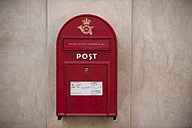 Denmark, Copenhagen, Red postbox - PA000763