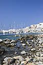 Greece, Cyclades, Naxos City and harbour - KRPF000835
