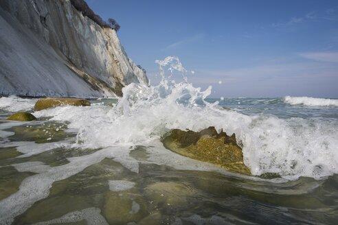 Denmark, Mon Island, Mons Klint, Chalk cliffs, Surging billow - PAF000740