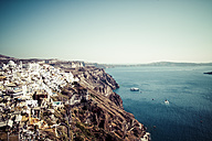 Greece, Cyclades, Santorini, view to Fira and the Caldera - KRPF000849