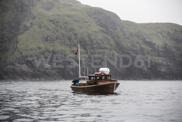 Norway, Island Runde, fishing boat in fjord - NG000222