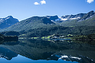 Norway, Alesund, landscape with fjord - NGF000213