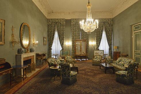 Iran, Tehran, Sa'dabad Palace, interior of White Palace - ES001348