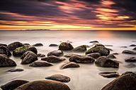 Scandinavia, Norway, Lofoten, Vestvagoy, Sundown at the coastline of Utakleiv - PUF000021