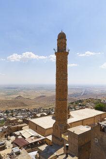 Turkey, Mardin, Mesopotamian plain and minaret of the Great Mosque - SIEF005780