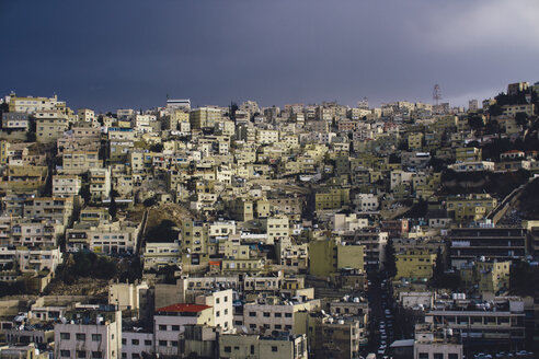 Jordan, Amman, city view before a thunderstorm - FLF000499