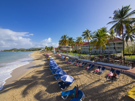 Caribbean, St. Lucia, beach at Rodney Bay - AMF002666