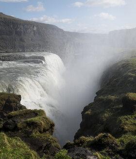 Iceland, Haukadalur, Gulfoss Waterfall - MKFF000075