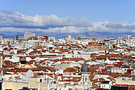 Spain, Madrid, historic city center, view over the roofs of Chueca and Justicia - MIZ000589