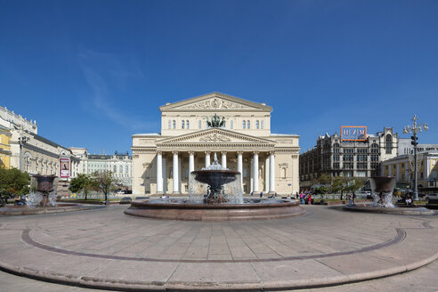 Russia, Central Russia, Moscow, Theatre Square, Bolshoi Theatre and Petrovskiy Fountain - FOF006724
