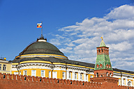 Russia, Moscow, Red Square with Senate Palace and Tower and Kremlin wall - FOF006800