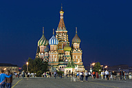 Russia, Central Russia, Moscow, Red Square, Saint Basil's Cathedral in the evening - FOF006818