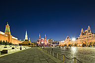 Russia, Moscow, view to Red Square by night - FOF006872