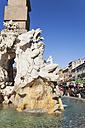 Italy, Lazio, Rome, Piazza Navona, Fontana dei Quattro Fiumi and Christmas market - GWF003141