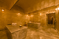 Morocco, Fes, lighted sauna of a hotel - KM001374
