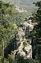 Germany, Saxony, view to Elbe Sandstone Mountains at Rathen area - MSF004096