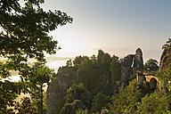 Germany, Saxony, Elbe Sandstone Mountains, view to Bastei Bridge - MSF004129