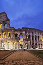 Italy, Lazio, Rome, Colosseum in the evening - GW003121