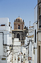 Spain, Andalusia, Tarifa, Old town, dome of a church - KBF000127