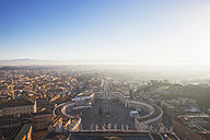 Italy, Rome, cityscape with St. Peter's Square from St. Peter's Basilica - GW003286