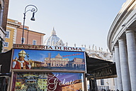 Italy, Rome, retail van on St. Peter's Square at New Year 2014 - GW003293
