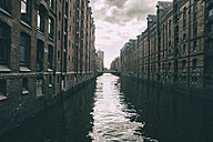 Germany, Hamburg, Warehouse district, Warehouses at Canal - KRPF000997
