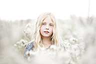Portrait of girl standing in a field - MAEF009022