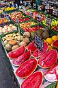 Austria, Vienna, assortement of a fruit stall at Naschmarkt - EJW000507
