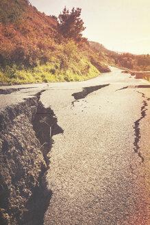 Spain, damaged street - MS004158