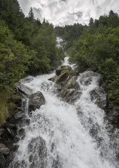 Austria, Tyrol, Kaunertal, mountain brook Wurmtalbach - MKFF000110