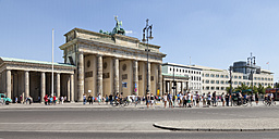 Germany, Berlin, view to Brandenburg Gate and Place of March 18 - WIF000954