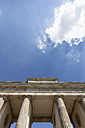 Germany, Berlin, view to Brandenburg Gate, partial view from below - WIF000956