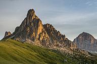 Italy, Veneto, Province of Belluno, Giau Pass, Monte Nuvolau at sunrise - MKFF000117