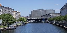 Germany, Berlin, Berlin-Mitte, Station Friedrichstrasse, Spree river - WIF000962