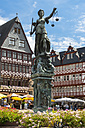Germany, Hesse, Frankfurt, Roemerberg, Fountain of Justice - AMF002736