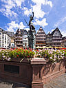 Germany, Hesse, Frankfurt, Roemerberg, Fountain of Justice - AMF002737